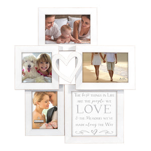 "4 OPENING ""THE BEST THINGS IN LIFE ARE THE PEOPLE WE LOVE"" WHITE COLLAGE FRAME"