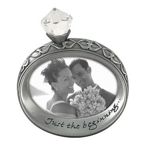 "4X3 ""JUST THE BEGINNING"" WORD FRAME"