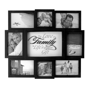 "8 OPENING ""THE LOVE OF A FAMILY"" BLACK COLLAGE FRAME"
