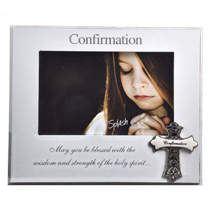 "4X6 ""CONFIRMATION"" WHITE WORD FRAME"