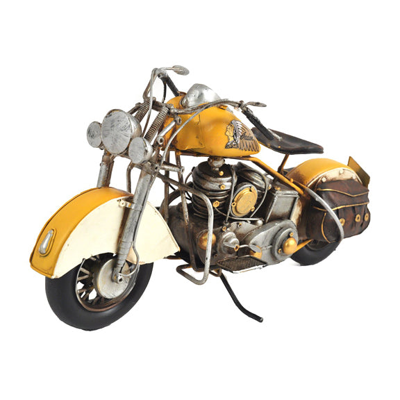 MOTORCYCLE YELLOW INDIAN