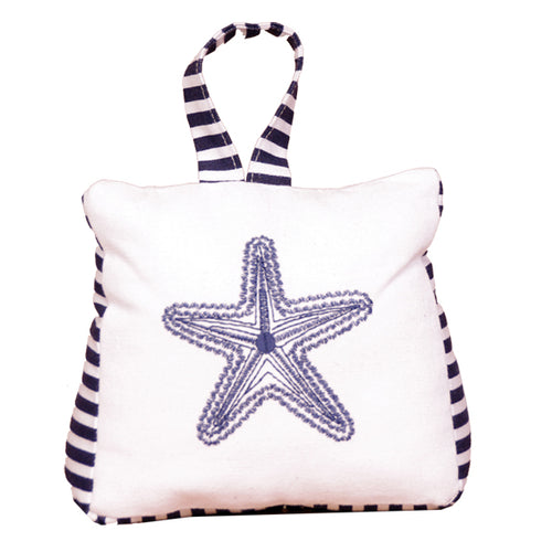 DOORSTOP STARFISH BLUE& WHITE