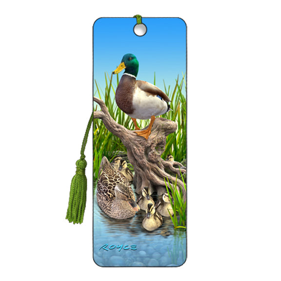 3-D BOOKMARK - DUCKS