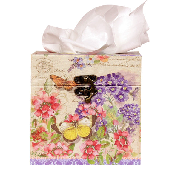 SQUARE BUTTERFLY TISSUE BOX