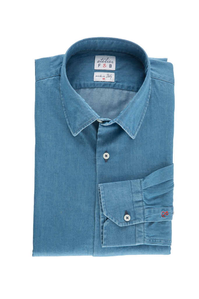 chemise en jean homme Atelier F and B