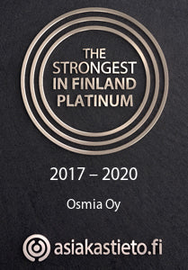 The Strongest in Finland Platinum - Osmia Oy - Asiakastieto