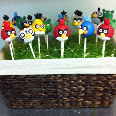 ANGRY CAKE POPS