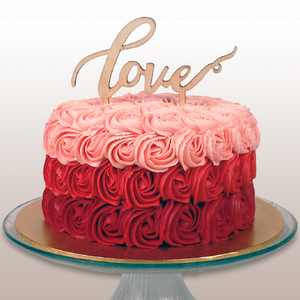 "6"" Rosettes Ombre Cake"