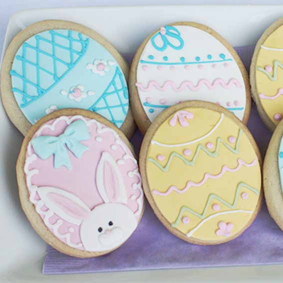 Easter Decorated Cookies (4 cookies)