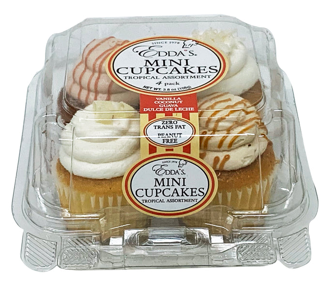 Mini Cupcake Tropical 4 Pack