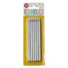 "Load image into Gallery viewer, 5"" Metallic Birthday Candles"