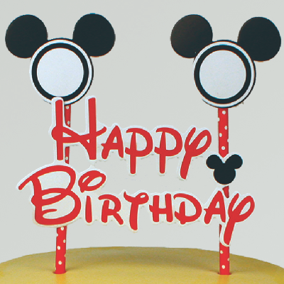 Mickey Mouse Birthday Cake Topper