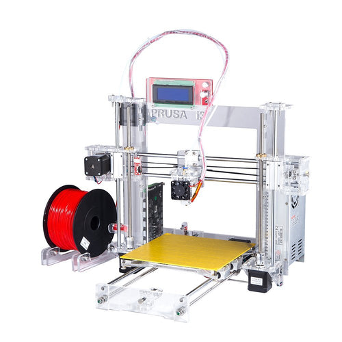 Sunhokey Hot Full Acrylic Quality High Precision Reprap Prusa i3 LCD DIY 3d Printer Kit