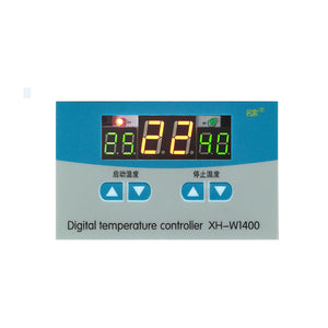 XH-W1400 digital temperature controller  with Panel three windows