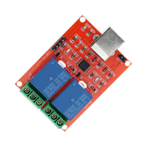 5V DC 2 Channel USB Relay Module Programmable Computer Control For Smart Home