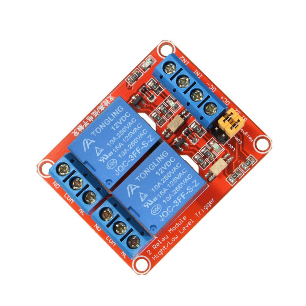 12V 2 Channel 4 Road Relay Module with Optocoupler Isolation Supports High and Low Trigger