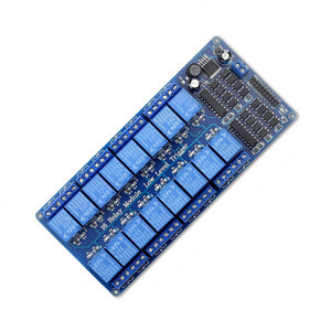 16-Channel 12V Relay Module Board with Lm2576 Power for Arduino AVR PIC DSP ARM MCU PLC