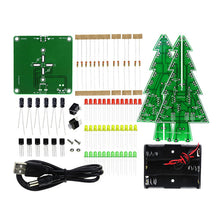 Christmas tree DIY colorful flashlight electronic practice handmade kit Christmas gift ornaments for Christmas