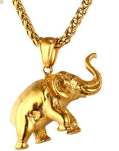 14K Gold Plated Elephant Pendant Necklace