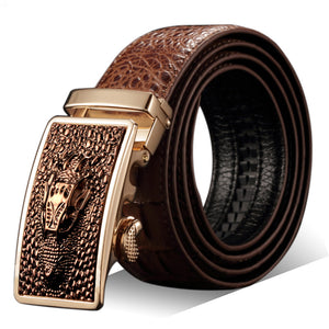 Faux Crocodile Men's Leather Belt
