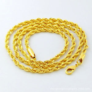 14K Gold Plated Unisex Rope Chain