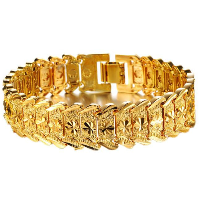 Gold Plated Noble Unisex Bracelet