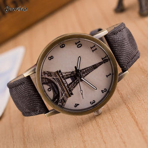 Eiffel Tower Genuine Leather Watch