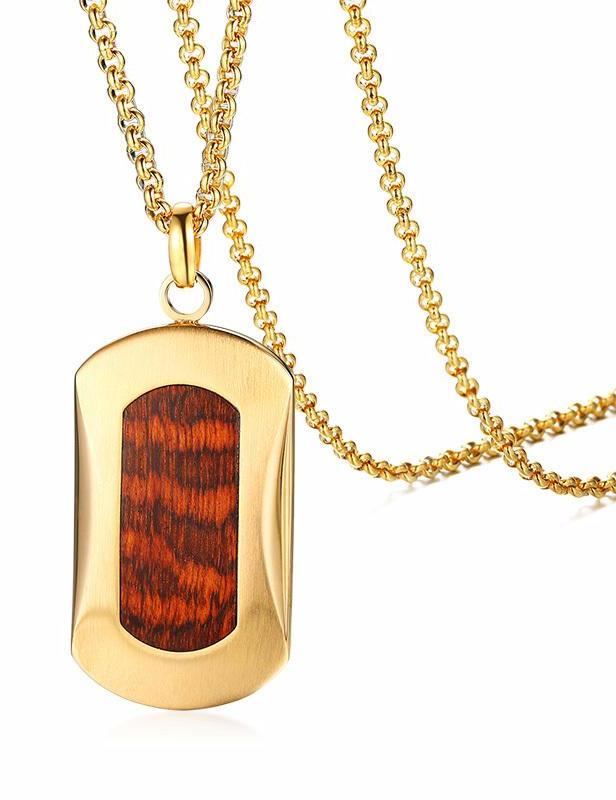 Men's Snakewood Pendant Chain