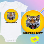 """Angry Tiger"" Baby Bodysuit"
