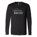 Beauty in a White Coat Long Sleeve Tee - Black