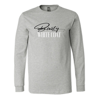 Beauty in a White Coat Long Sleeve Tee - Gray
