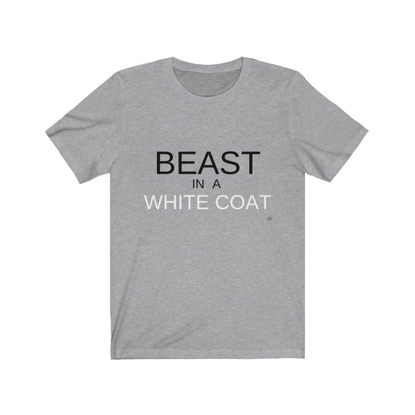 Beast in a White Coat Tee - Gray