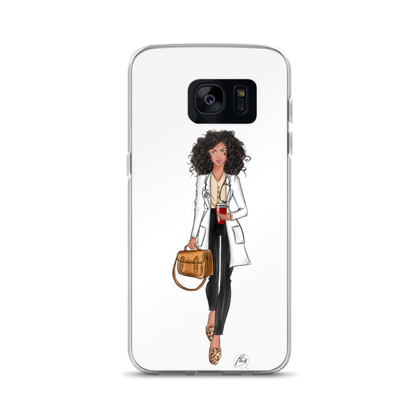 Illustrated Flexible Samsung Phone Case - Cara