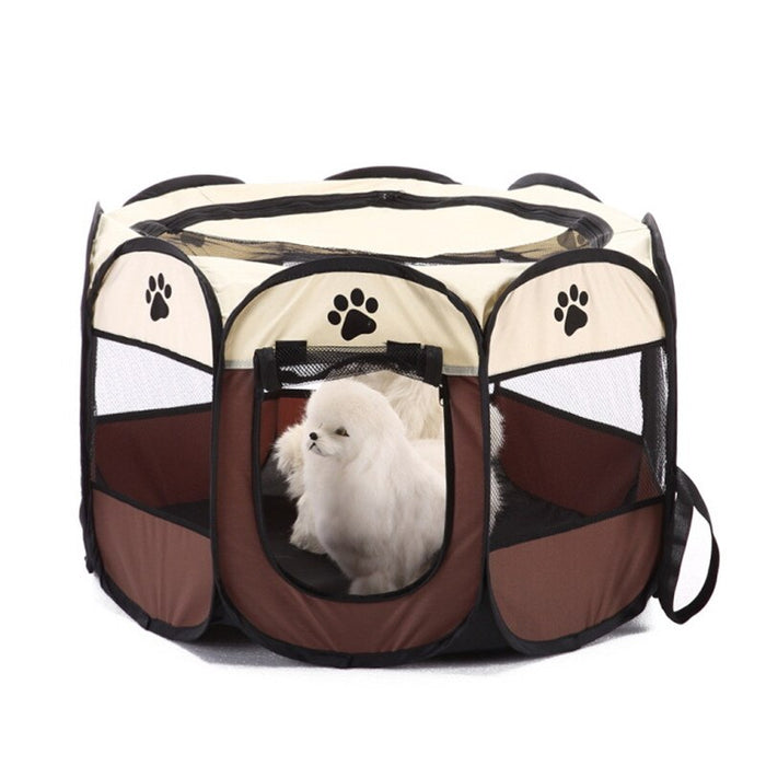 Portable Fence Dog Octagonal Pet Tent Folding Outdoor Dog Cage  Puppy Kennel For Dogs Cats - Dux Ducis