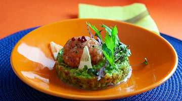 Salmon Tartare on a Bed of Guacamole (low carb)