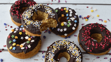 Chocolate Almond Doughnuts (Gluten-free, vegan, refined sugar free)