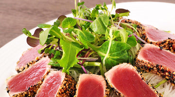 Sesame encrusted tuna (low carb)