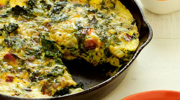 HIGH PROTEIN FRITTATA WITH RICOTTA AND GREENS