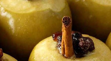 Baked Apples with Cinnamon Sticks