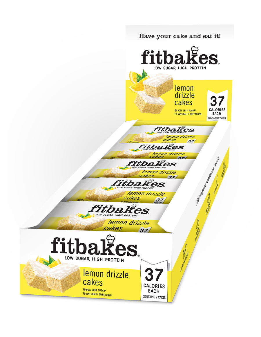 LEMON DRIZZLE TWIN PACK X10 - low sugar high protein Fitbakes®