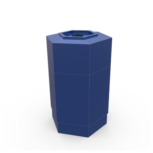 Hex Recycling Container (Blue)