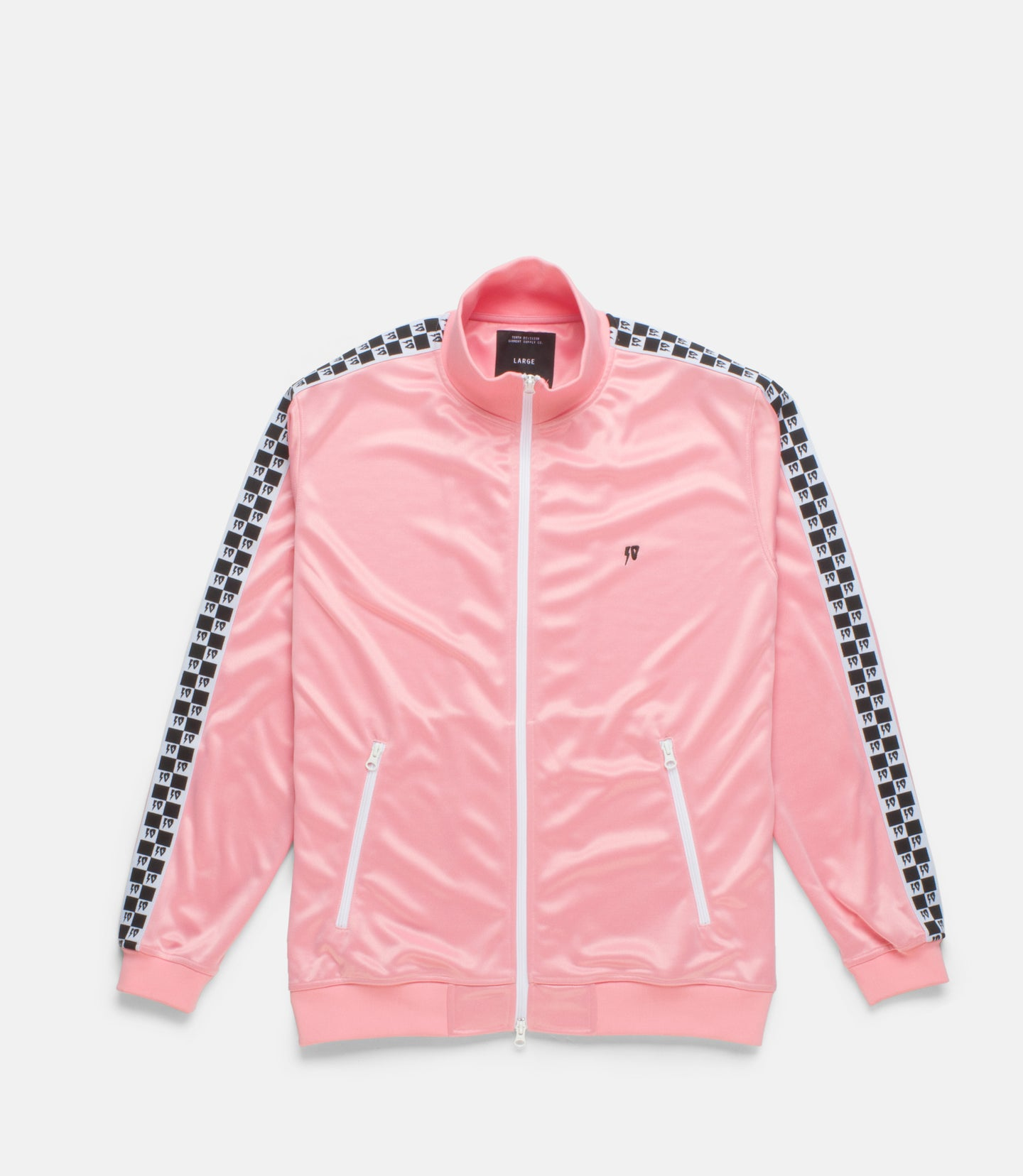 CHECKERED FLAG TRACK ZIP - PINK