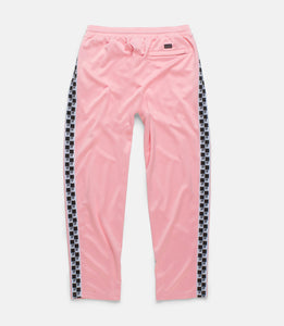 CHECKERED FLAG TRACK PANT - PINK