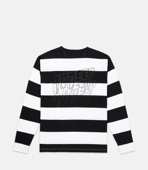 SOUND & FURY L/S STRIPE TEE - BLACK