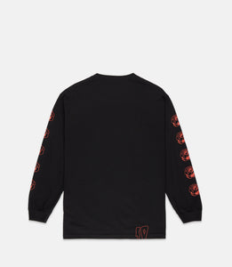 WANTED L/S TEE - BLACK