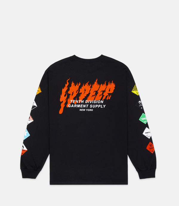 PROHIBITED LONG SLEEVE TEE - BLACK