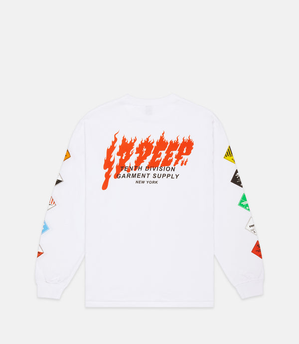 PROHIBITED LONG SLEEVE TEE - WHITE