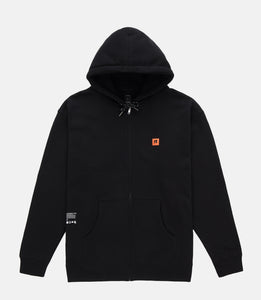 KEEP BACK ZIP HOODIE - BLACK