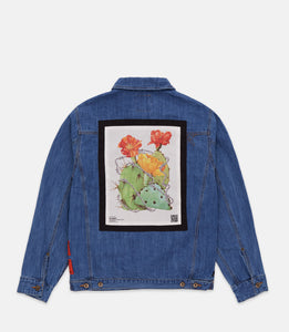 KEEP BACK DENIM JACKET - MED STONE WASH