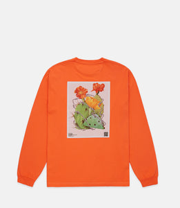 KEEP BACK L/S - NEON CORAL